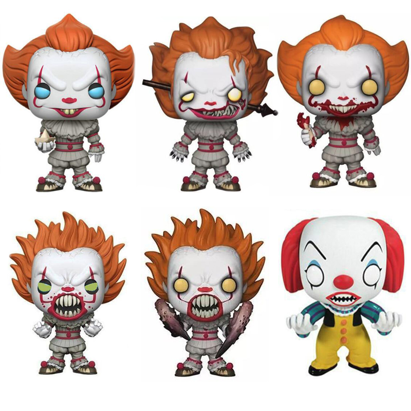 Movie Stephen King's It Joker Clown Character PENNYWISE Vinyl Dolls Figure  Model Toys