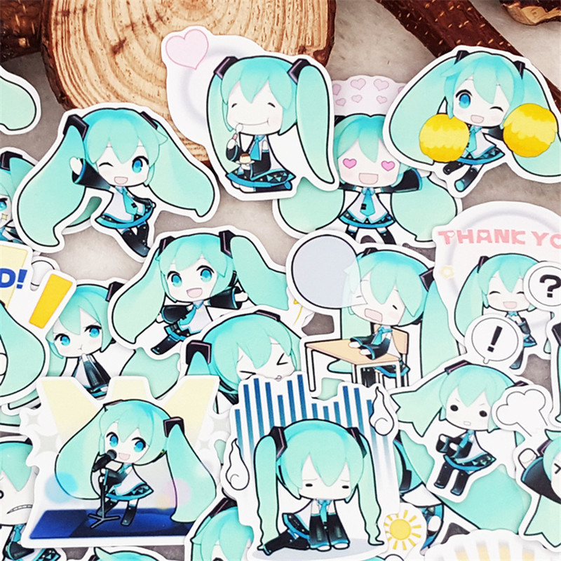 40 Pcs Cute green girl Stickers for Luggage Laptop Skateboard Bicycle Motorcycle Styling Decals Fashion Cool Sticker40 Pcs Cute green girl Stickers for Luggage Laptop Skateboard Bicycle Motorcycle Styling Decals Fashion Cool Sticker