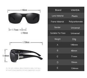 Image 2 - Viahdaデザイン男性古典的な偏光サングラス男性スポーツ釣りシェード眼鏡UV400保護