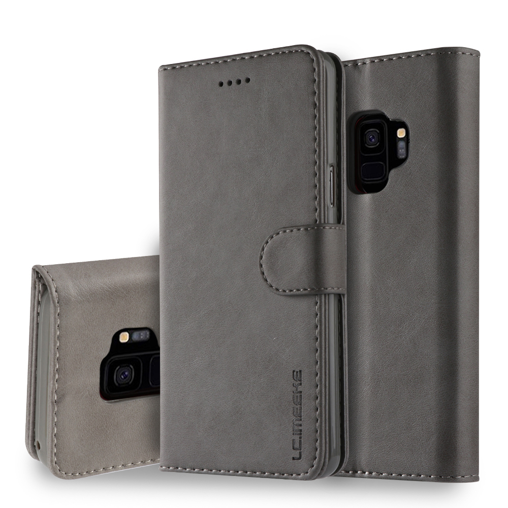 Luxury Leather Wallet <font><b>Flip</b></font> Phone Case For <font><b>Samsung</b></font> Note 9 8 S9 S8 S7 <font><b>A50</b></font> A30 A20 A6 A8 J4 J6 Plus 2018 Case Magnetic <font><b>Flip</b></font> <font><b>Cover</b></font> image
