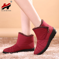 2016 Autumn Winter Casual Snow Boots Waterproof Women Ankle Boots Thermal Flat Slip Resistant Fashion Winter