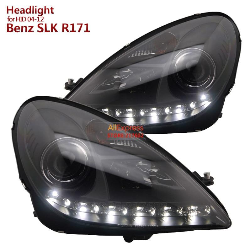 для Мерседес-Бенц СЛК R171 SLK200 SLK350 SLK500 светодиодный проектор фары Ассамблеи, пригодный 2004-2012 Оригинальное спрятал моделей автомобилей