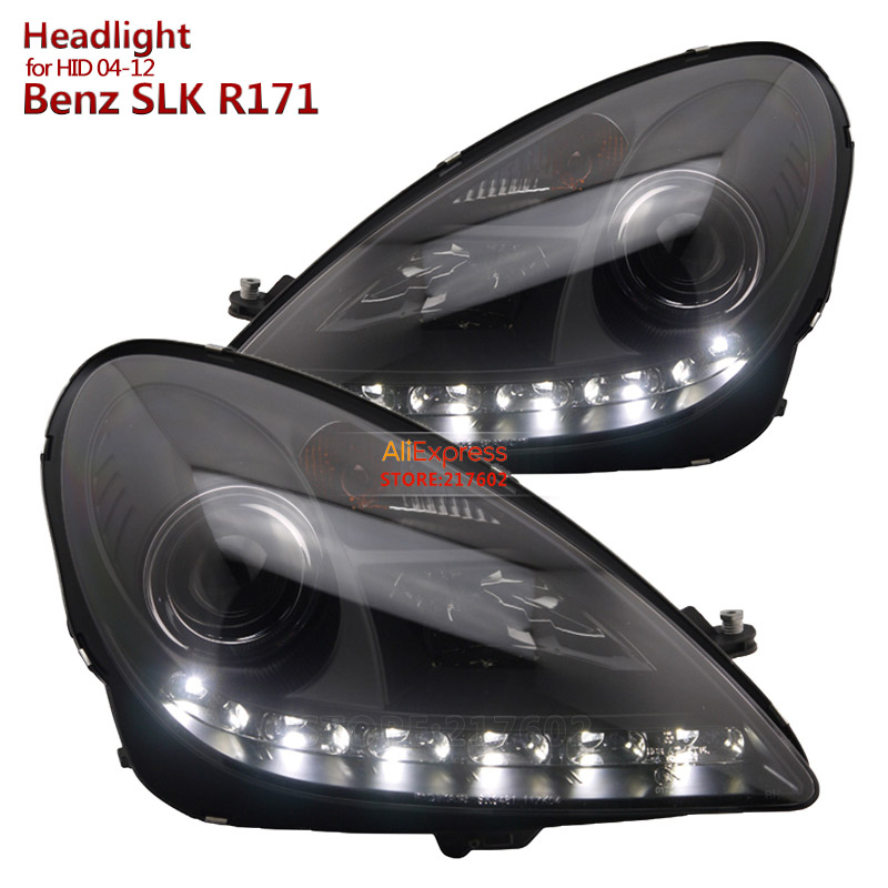 for Mercedes-Benz SLK <font><b>R171</b></font> SLK200 SLK350 SLK500 LED Projector <font><b>Headlights</b></font> Assembly Fit 2004-2012 original HID car models image