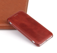 Genuine Leather Case for iPhone 8 Case for iPhone x 7 Plus 6 6s 8 Plus Curve Edge Flip Folio Real Leather Cover Can be Love Gift