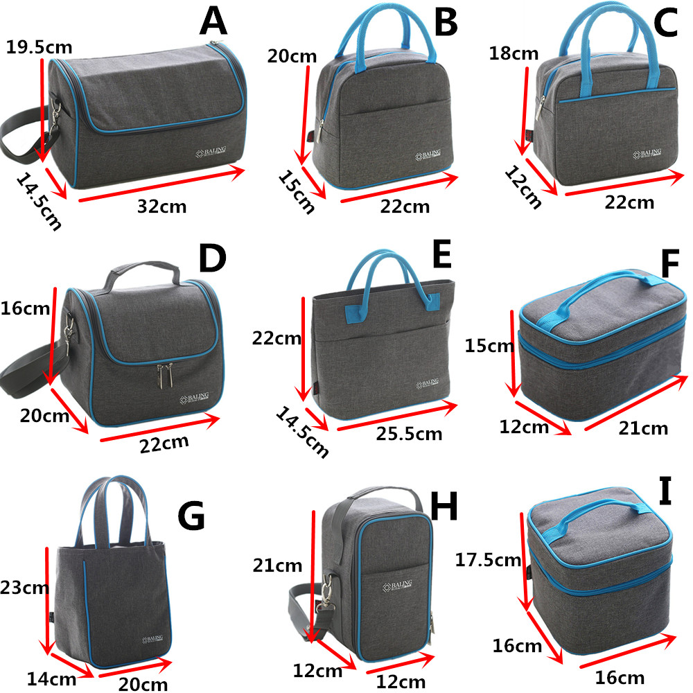 Thermal Insulation Cooler Lunch Bag Picnic Bento Box Fresh Keeping Ice Pack Food Fruit Storage Container Accessories Products