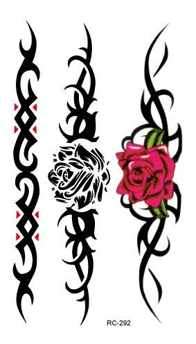 RC2292 Waterproof Temporary Tattoo Stickers Water Transfer Tattoo Sticker Fashion Body Art Fake Tattoo Tatuajes Rose Flowers