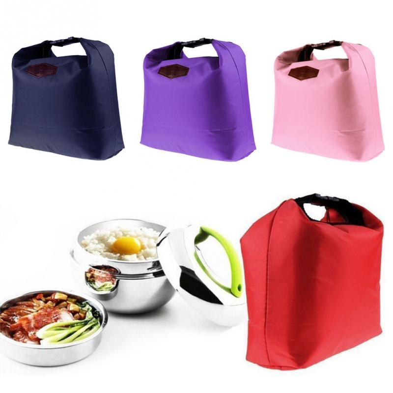 Portable Insulated Canvas Lunch Bag Thermal Food Picnic Lunch Bags For Women Kids Men Cooler Lunch Box Bag Tote #1207