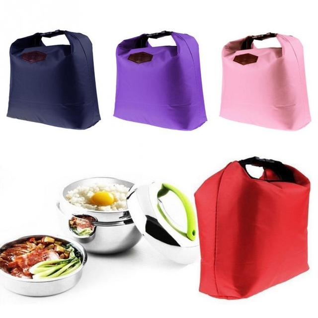921e08da6bff Aliexpress.com : Buy Portable Insulated Canvas lunch Bag Thermal Food  Picnic Lunch Bags for Women kids Men Cooler Lunch Box Bag Tote from  Reliable ...