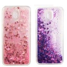 Glitter Quicksand TPU Love Heart Phone Case For Samsung Galaxy J3 J5 J7 EU J4 J6 J8 2015 2016 2017 2018 J2 J5 J7 Prime Cover