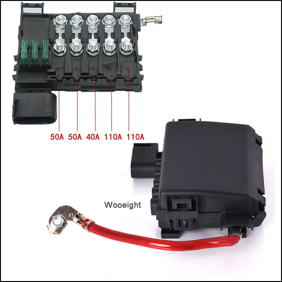 small resolution of car battery fuse box holder terminal 1j0937550a for vw beetle golf golf city jetta audi a3