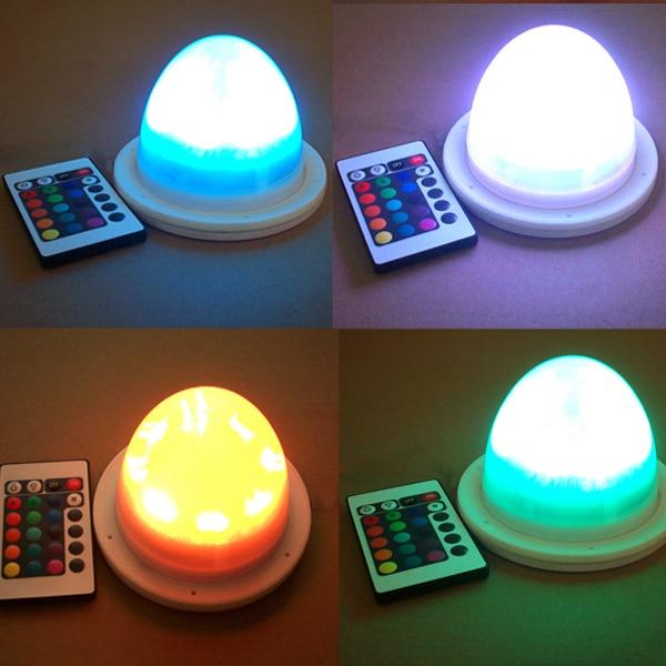 ФОТО 10PCS FAST Free Shipping Super Bright cordless rgb 16 colors change remote control battery led lamp