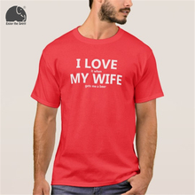 """I Love it when my wife gets me a beer"" men's t-shirt"
