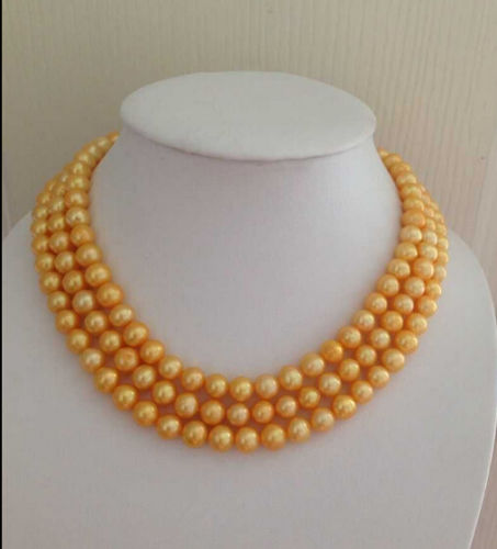 цены Free Shipping 003527 charming elegant 9-10mm south sea natural gold pearl necklace 14KGP 49 inch