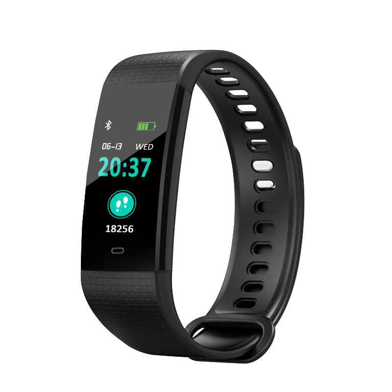 BT4.0 Blood oxygen Smart Color Screen Y5 Blood Pressure Exercise Heart Rate Pedometer Healthy Smart Watch
