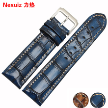 The new 18|20|22mm high quality leather Strap Watch Band with stainless steel buckle AR watchband accessories