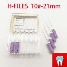 6 шт. 10#-21 мм стоматологические ПроТейпер файлы корневого канала стоматологические материалы Стоматологические инструменты ручное использование нержавеющая сталь H файлы