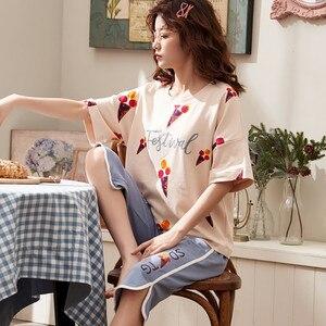 Image 3 - Plus ขนาด 3XL 4XL ฤดูร้อนชุดนอนผ้าฝ้ายบ้านกางเกงผู้หญิงชุดนอนบาง Pajama กางเกงผู้หญิงหญิง Casual Lady สวมใส่