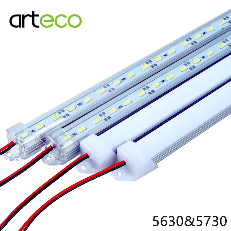 2PCS/Lot DC12V LED Bar light 5730 5630 50CM with PC cover LED light 5730 white/warm white/red/green/blue/cold white silicone jigsaw pattern cover creative notebook red white green purple