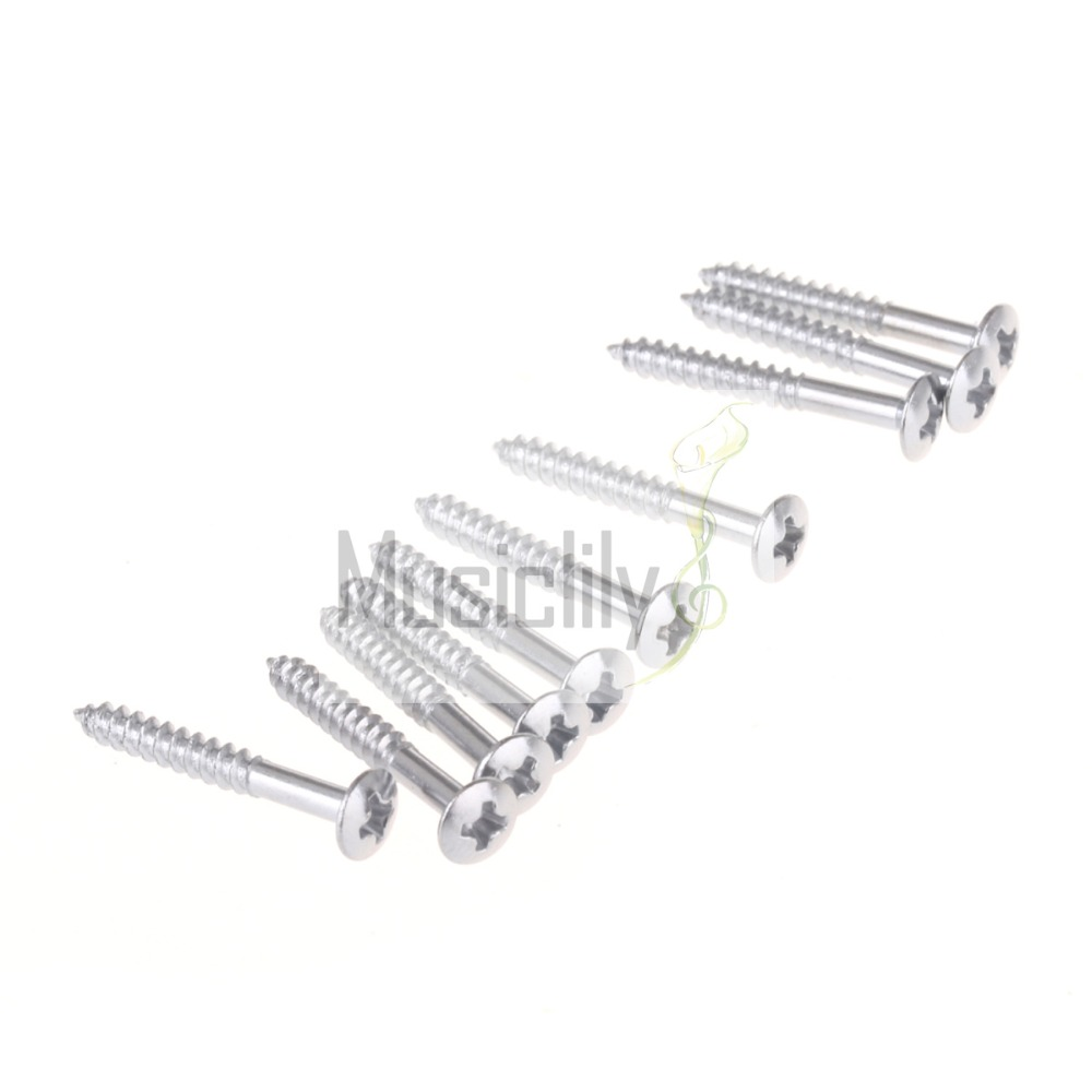 bulk sale 100pcs chrome 3x25mm bridge mounting screws for guitar bass parts in guitar parts. Black Bedroom Furniture Sets. Home Design Ideas