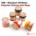 (10147)1 Roll, about 140 Meters 1MM Polyester Chinese Knot Rope Cord Jewelry Accessories Findings Wholesale