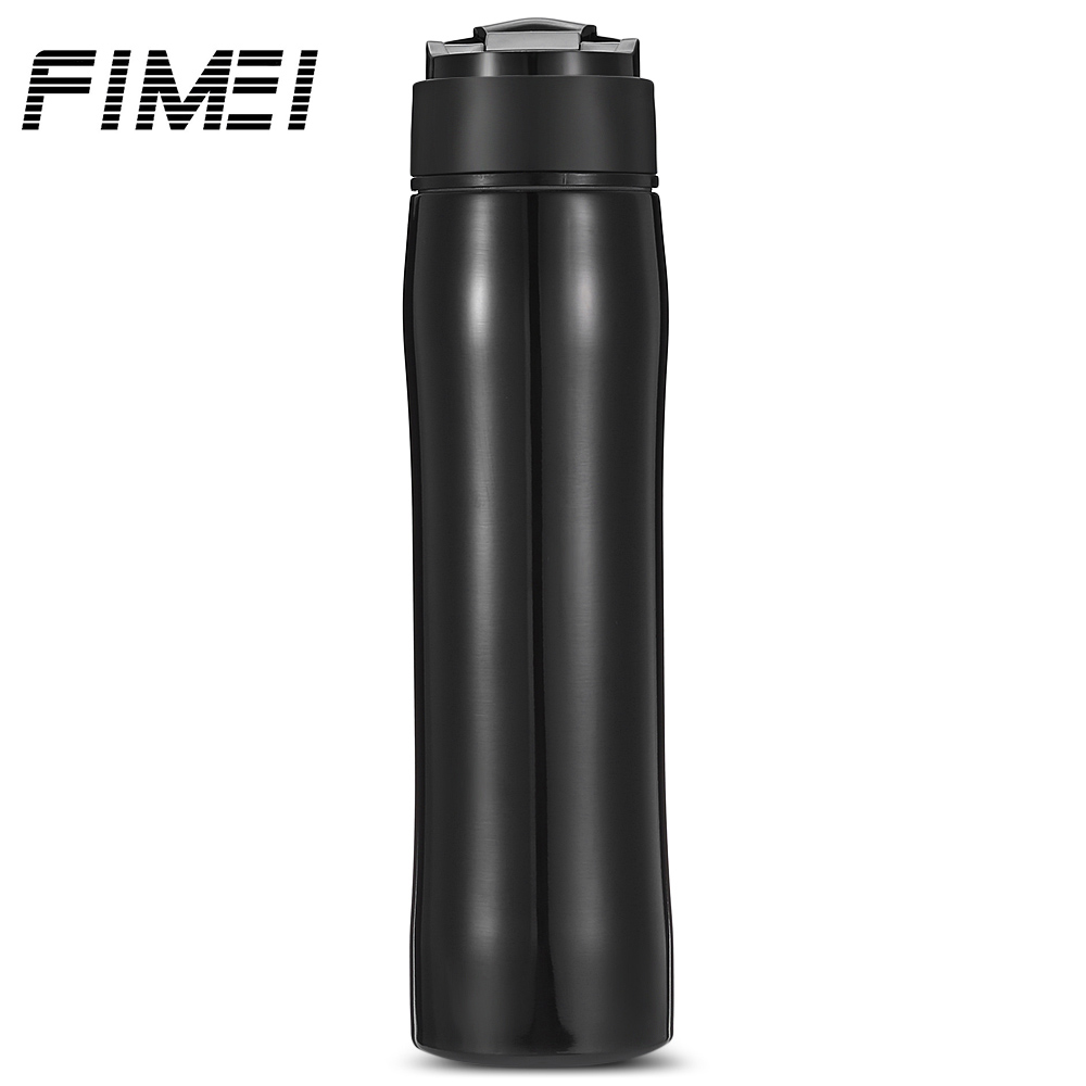 Fimei 350ml Stainless Steel Self-Lock Portable Insulation French Press Leak Proof Coffee Tea Maker Bottle With Separation Filter jmt h8125 portable leak proof bottle w filter strap translucent green 480ml