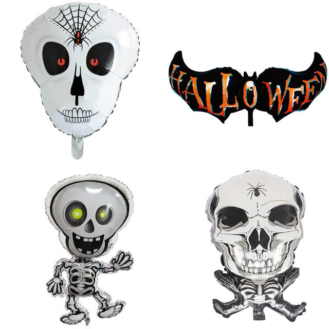 Dancing Skeletons Foil Balloons Skull Helium Balloon Inflatable Toys Halloween Decorations Bar decor Event Party Supplies