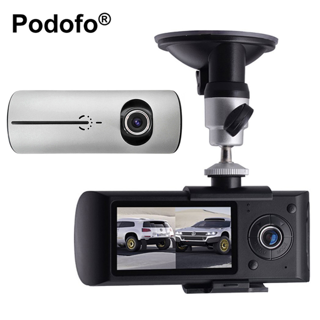 Dual Lens Car DVR X3000 R300 2.7inch Dashcam Video Digital Recorder Dash Cam with GPS G-Sensor Camcorder 140 Degree Wide Angle
