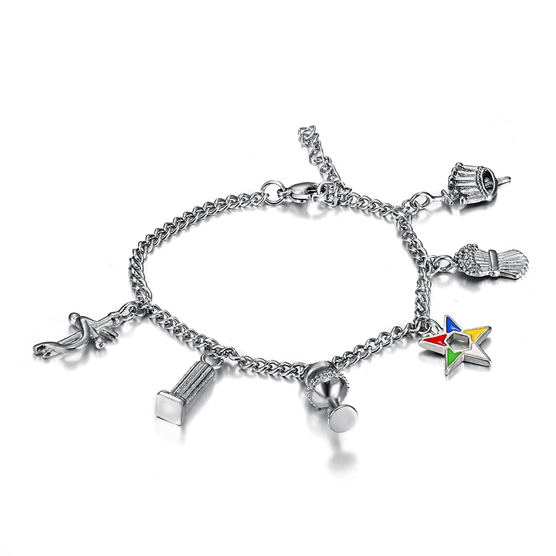 Silver Oes The Order Of Eastern Star Charm Bracelets For Las 1