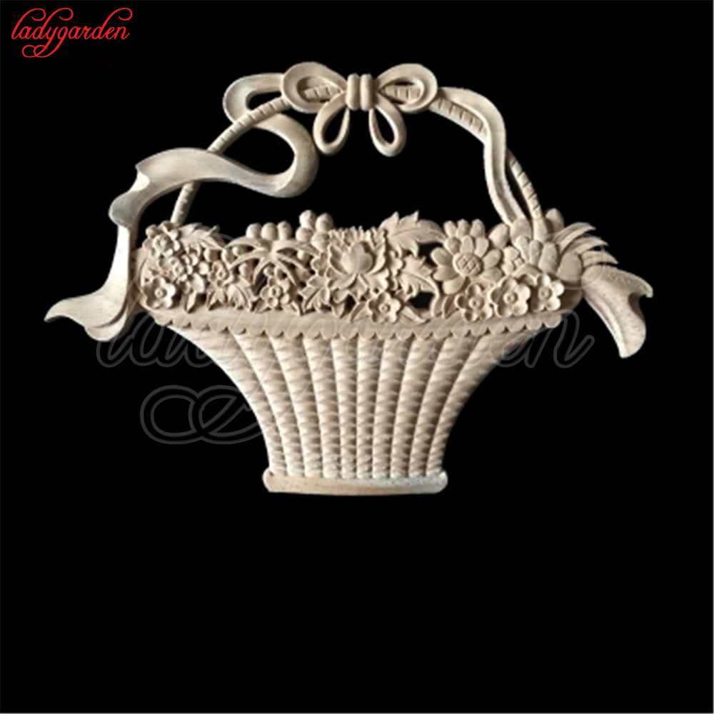 Aliexpress Com Buy Decorative Wood Appliques Wood Carved Corner Applique Wooden Carving Decal