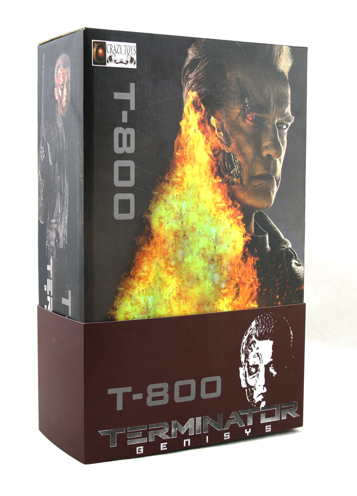 New Sci-Fi Movie The Terminator Genisys  Schwarzenegger T-800 Battle Damage Ver. Figurine Crazy Toys 12  Action Figure neca terminator 2 judgement day t 800 7 action figure cyberdyne showdown new