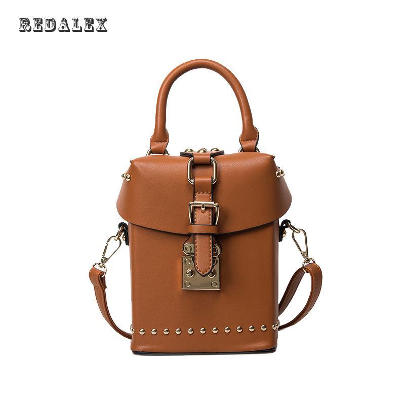 Small Package Bag Rivets Fashion Handbag Bag Lock Single Shoulder Bag