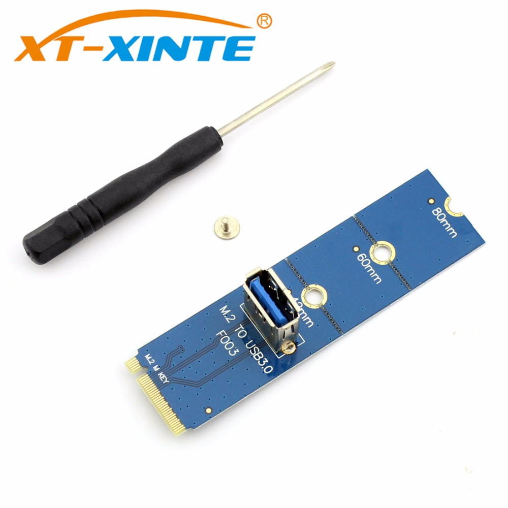 NGFF M.2 to PCI-E X16 Slot M2 to USB 3.0 Pcie Riser Card Adapter Extension Cable Male To Female Multiplier For BTC Miner Mining