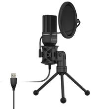 Yanmai SF777 USB Condenser Microphone Kit Podcast Studio Microfone Plu
