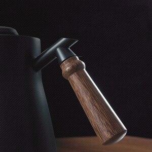 Image 3 - 850ml 304 # paslanmaz çelik uzun dar borulu cezve Gooseneck su isıtıcısı el damla su isıtıcısı kahve üzerine dökün kapaklı termometre