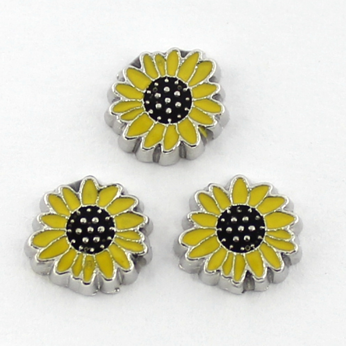The charm of sunflower floating brain or life into a small box,20pcs/lot ,free shipping