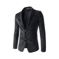 2019 New Feature Pocket Back Collar Contrast Suede Men's Casual Suit Long Sleeve V neck Men Clothes Bleiser Masculino Blazer Man