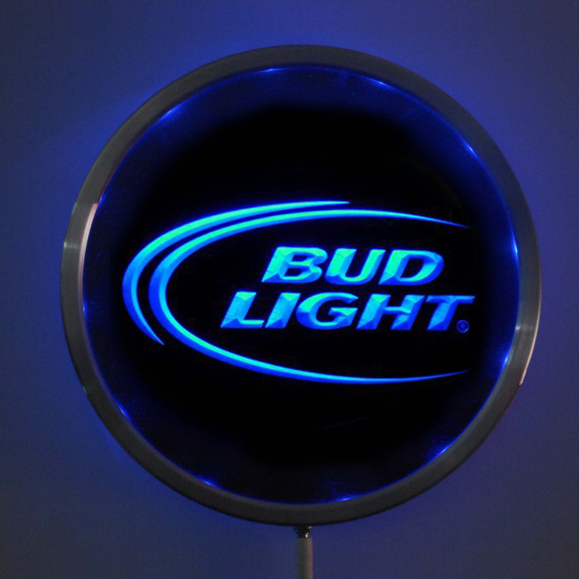 rs-a0003 Bud <font><b>Light</b></font> Beer LED Neon Round Signs 25cm/ 10 Inch - Bar Sign with RGB Multi-Color Remote Wireless Control Function