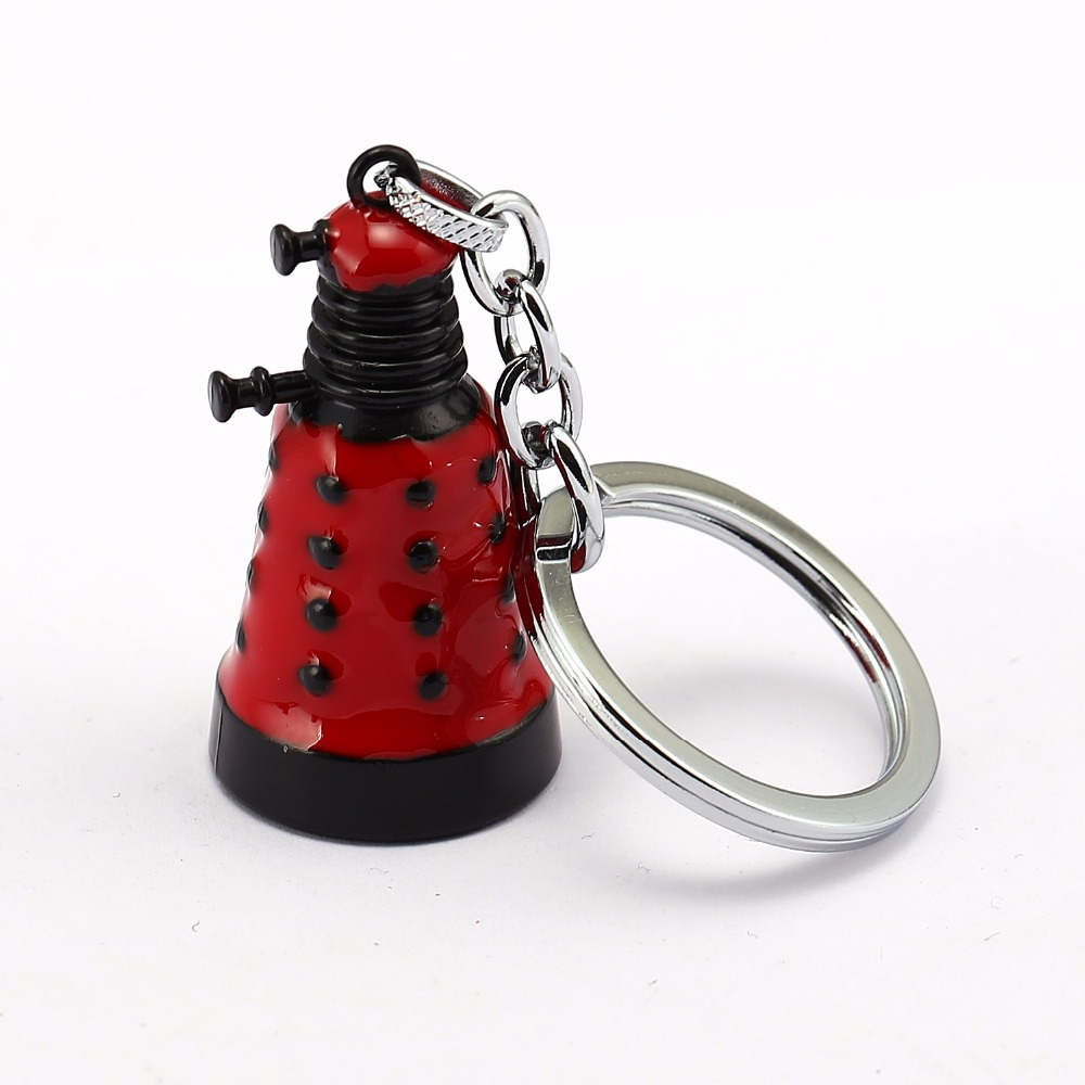 Mystery Dr. Who Keychain Wall Clock Bell Metal Holder Robots 3 colors Jewelry Keyring Child Toys image