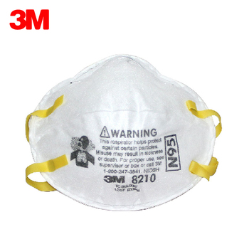 20 ชิ้น/กล่อง 3 M 8210 หน้ากากป้องกันฝุ่น N95 Particulate Respirator Anti-PM2.5 อุตสาหกรรมฝุ่นละอองการทำงานความปลอดภัย Anti - ...