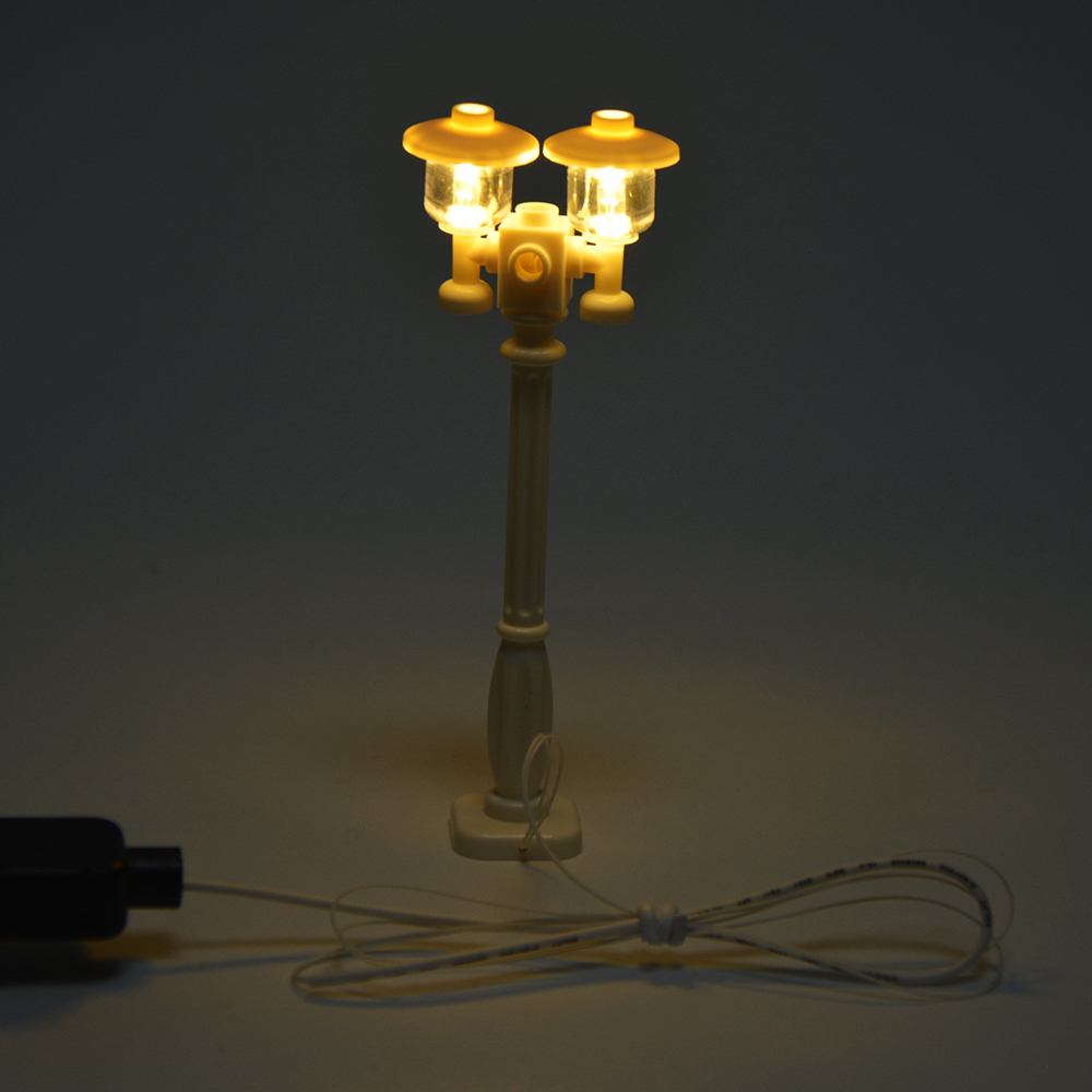 MTELE High Quality DIY Street Light Accessories For City Series Blok - Mainan pembinaan - Foto 4