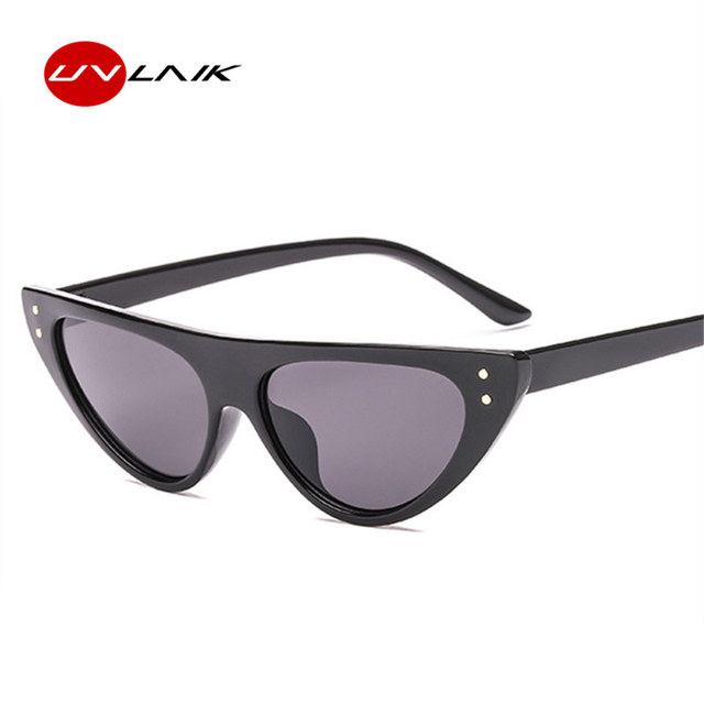 3a9a89bf54 UVLAIK Fashion Cat Eye Sunglasses 2018 Women Luxury Brand Designer Vintage  Retro Small Red Cateyes Sun Glasses For Women UV400