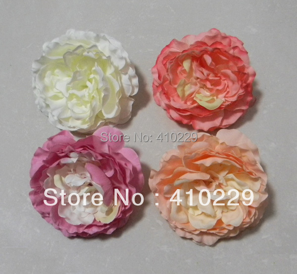 8cm DIY Peony Head ,Artificial Flowers,Garment ,Mix Order 8 Colors 4pcs/lot AF317