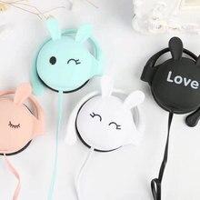 Cute Rabbit Cartoon Stereo Earphones With mic 3.5mm Ear-hook Sports Earplugs Headset For Girls Kids Gifts Xiaomi Mobile Phones