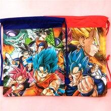 1pcs 34*27cm Dragon Ball theme non-woven fabrics drawstring bags backpack,boy kids Gift bag Birthday Party Favor