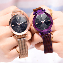 Fashion Watch Women luxury brand rose gold starry sky crystal wristwatch gift for womens waterproof casual dress quartz watch