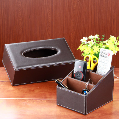 Tissue Remote Control Storage Box Set Coffee Table Mobile Phone  Miscellaneously Stationery Desktop Storage Box