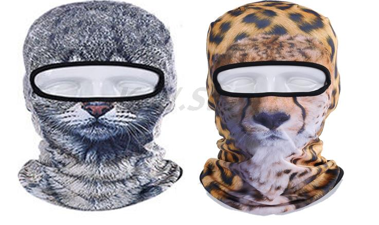 2017 Novelty Leopard Animal Sports Fishing Motorcycle Cycling Mask 3D Cap Hood Ski Balaclava Breathable Hat