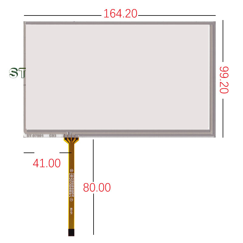 164.2*99.2 Original New 7'' Inch Touch Screen With Innolux AT070TN90 AT070tn92 94 Industrial Touch Screen ST-07001
