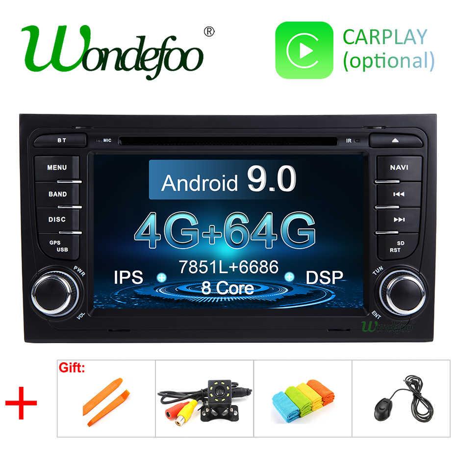 DSP IPS 4 グラム 64 グラム Android 9.0 車の Gps 用アウディ A4 B6 B7 S4 B7 B6 RS4 B7 シート Exeo DVD プレーヤーマルチメディアナビゲーションラジオステレオ pc