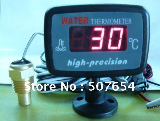 ФОТО New Arrive! High technology Auto/car Digital water temperature indicator/water temperature gauge